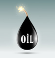 Bomb with a wick in the form of oil droplets vector