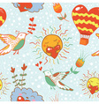 Bright cartoon romantic seamless pattern vector
