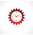 Gear clock icon vector