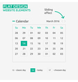 Calendar flat design vector
