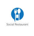 Social restaurant design template vector