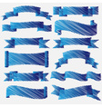 Blue scribbled ribbons and banners vector