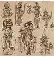 Halloween jack o lantern - an hand drawn pack vector