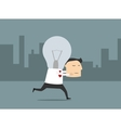 Businessman with fresh great idea vector