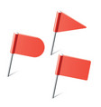 Red flag pins vector