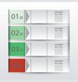 Abstract paper infografics vector