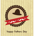 Fathers day icons and cards vector