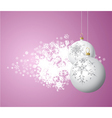 Christmas bulbs vector
