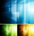 Abstract colourful tech design vector