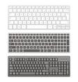 Computer keyboards vector