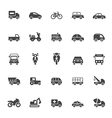 Transport icons on white background vector