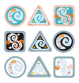 Geometrical signs with spirals vector