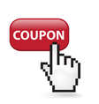 Coupon button vector