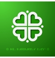 Stylized clover vector
