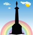 Monument of belgrade winner silhouette vector