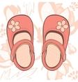 Beautiful baby girl shoes vector