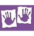 Paper grunge hands vector