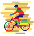Colourful of ride bicycle vector