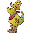 Cartoon dinosaur cowboy vector