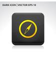 Compass icon gold vector