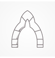 Flat line icon for arch vector