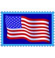 Usa flag on stamp vector