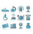 Airport and transportation icons 2 vector