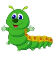 Cute caterpillar cartoon vector