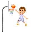 Cartoon boy playing basket ball vector