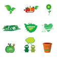 Eco icon green vector