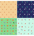 Nature pattern set vector