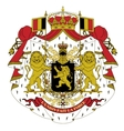 Coat of arms of belgium vector