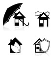 House concept black and white vector