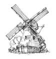 Dutch mill vector