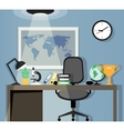 Office workplace design vector