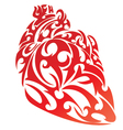 Heart shape tattoo design vector