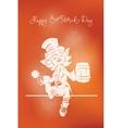 Leprechaun greeting happy st patrick day vector