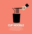 Instant cup noodle vector