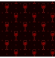 Seamless background with wineglasses vector