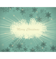 Vintage retro christmas card vector