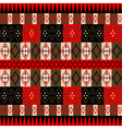 Ethnic red texture vector