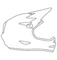 Downhill mountain biking full face helmet vector