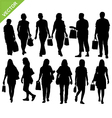 Woman shopping silhouette vector