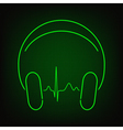 Music heartbeat vector