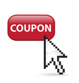 Coupon button click vector