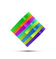 Abstract colorful square logo vector