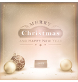 Desaturated golden christmas background vector