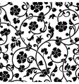 Abstract flowers baroque seamless pattern vector