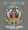 American football college vector
