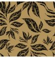 Seamless beige floral pattern vector
